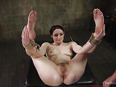 Submissive babe gets her big booty fucked hard