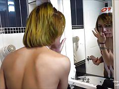 Cute ladyboy blows me hard before hitting the town