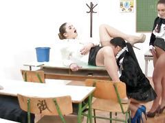 group sex, lesbians, masturbation, teens, at school, lesbian games, lesbian school, school
