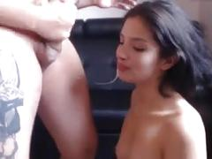 Brunette great mouth lips blowjob deepthroat
