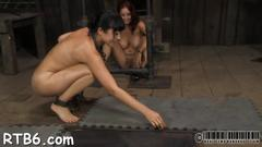 Upside down babe gives blowjob feature