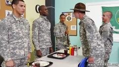 Sexy army boys get their asses examined by their drill sergeant