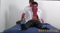 Tied up dude gets a nice footjob in this session
