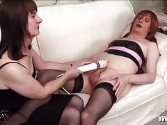 cumshot, bdsm, bondage, handjob, toys, vibrator, amateur, fetish, bound, latex, tranny, red hair, nylons, masturbate