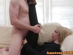 British cfnm femdom dick grinding in thighgap