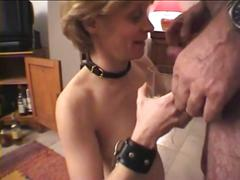 Painful nipple piercings for my cum slave tess