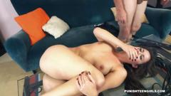 Young cheating slut tanya gets disciplined
