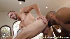 big cock, black, interracial, masturbation, muscle, rimjob