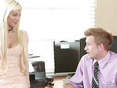 Sexy blonde secretary elizabeth jolie loves to fuck