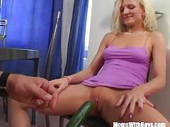 Milf blonde on a veggie dinner fuck date