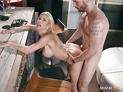 alexis fawx, mike mancini, blowjob, riding, doggystyle, cumshot, facial, blonde, fingering, standing, cowgirl, sucking, licking pussy