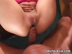 Beautiful bubble butt asian pornstar getting fucked hard