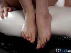 Fetish babes feet cummed