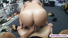 Sexy amateur college girl pounded by pervert pawn man