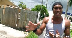 Muscle black gay fucked blowjob feature 1