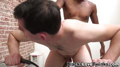 Amateur sucks black cock masturbation clip 1