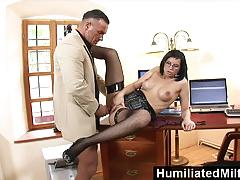 Milf fuck boss in the office