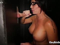 Babe shay fox sucks off strangers at gloryhole