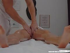 Fucked during wild massage