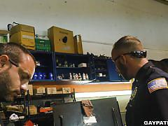Gay cops bust in for blowjobs