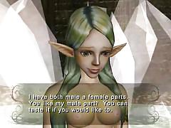 Elf princess with a cock is in search of a futa fairy