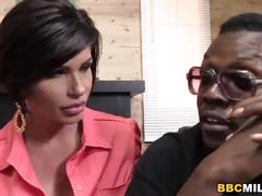 Busty cougar shay fox having sex with a black guy