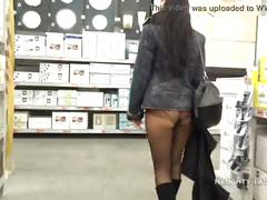 upskirt, milf, public, pantyhose, panty, flashing, shopping, transparent, mall