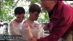 College men feet gay xxx pledges saran wrap bobbing for dildos and jalapeno