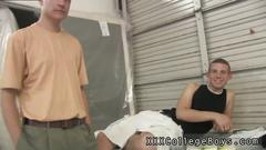 Young velvety knob gay porn he helps aj take that entire pipe down his throat a few times
