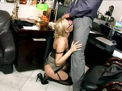 anal, l, garter, glasses, heels, secretary, doggystyle