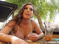 Sexy amateur gets interviewed for group sex