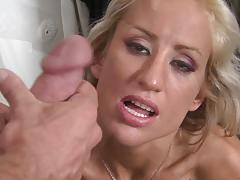 Facial for hot blonde milf zoey portland after hot bj