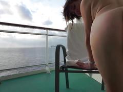 Girl masturbate on a cruise