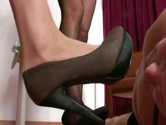 femdom, high heels, mistress, slave, eating