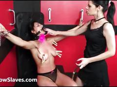 Teen slave demis lesbian bdsm and tied latina submissive tit tormented my mistre