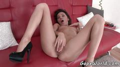 Highheeled babe buttfucked in favorite poses