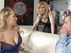 Deep in the kinky pussyhole of nina hartley and britney young