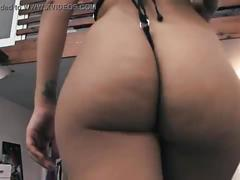 Huge ass huge tits latina waiting for your cock. shaved cameltoe.