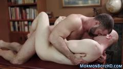 Gay mormon cums riding