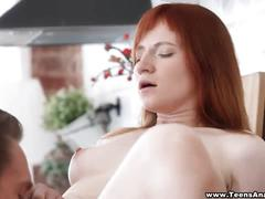 Teens analyzed - redhead taking her first anal