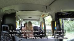 Crazy lesbo milf taxi driver fucks teen