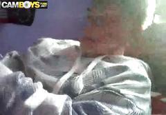 Myself in a condom webcam