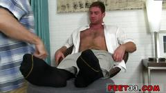 Gay leg amputee connor gets off twice being worshiped