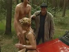 Sex on a car outdoor sex