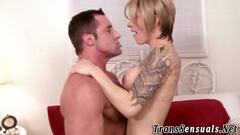Bareback session with this tranny darling that loves hard banging