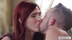 Redhead ts stefanie special begs to gets fucked by hottie dude billie ramos