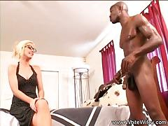 Blonde loves bbc interracial anal fun
