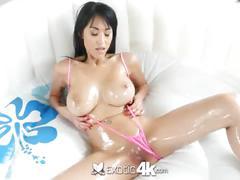Exotic4k - busty asian jayden lee lubed ass fucked hard