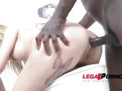 Karina grand back to studio: 3on1 airtight dp (fucked by 3 black cocks) sz1095
