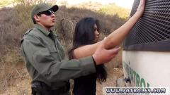 Slutty mexican babe gets rammed by a border police officer